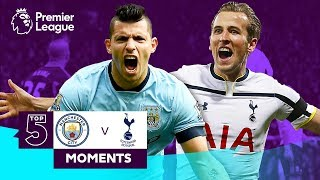 A compilation of the top 5 manchester city v tottenham hotspur moments in premier league.subscribe to official channel: http:...