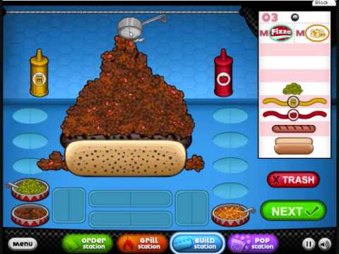 Let's Fail- The Quest for 0 Points, part 7, Papa's Hotdoggeria.