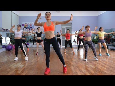 AEROBIC DANCE   LOSE BELLY FAT in 7 days (belly, waist )   35 minute Home Workout