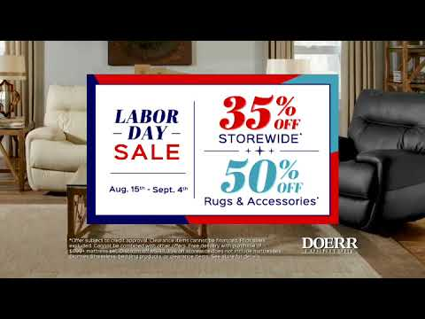 Doerr Furniture Labor Day Sale 2017 Youtube