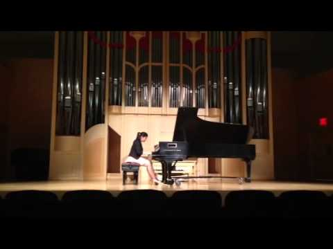 Michelle playing Beethoven Sonata 1