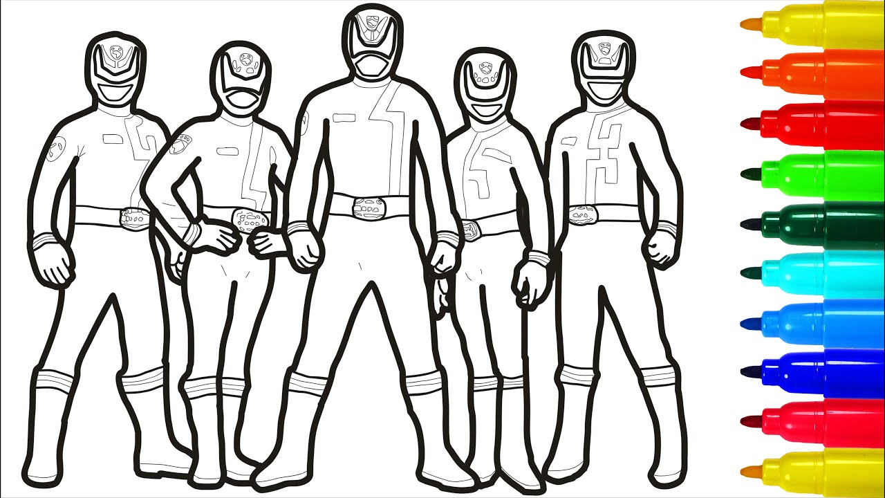 Power Rangers SPD Coloring Pages