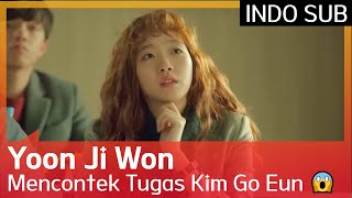 Yoon Ji Won Mencontek Tugas Kim Go Eun 😱 #CheeseInTheTrap 🇮🇩SUB INDO🇮🇩