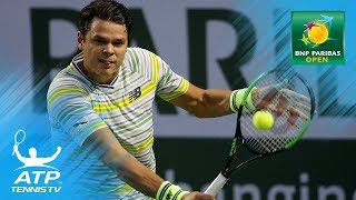 Del Potro marches on; Raonic bounces back | Highlights from Indian Wells Day 9