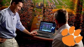 Dabo Swinney Watches Highlights of His Playing Days at Alabama