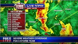 FOX 5 Severe Weather Coverage, November 23 2014