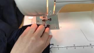 #1   Соединение юбки с подкладкой  Обработка верха притачным поясом
