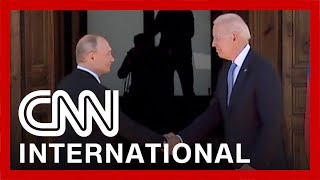 Biden and Putin shake hands as summit begins in Geneva