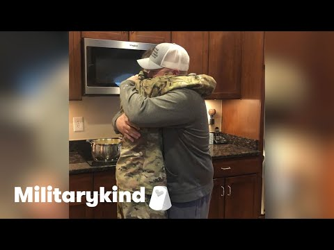 Airman's surprise reunion has brother in tears   Militarykind