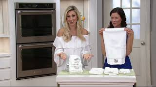 Lenox Butterfly Meadow 4 Piece Hand/Fingertip Towel Set on QVC