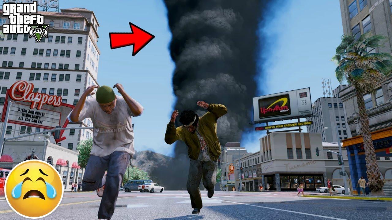 GTA 5 REAL LIFE HOMELESS MOD #7 TORNADO HITS LOS SANTOS