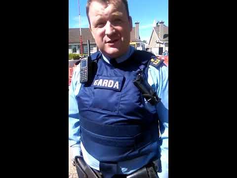 Irish Garda abusing his public