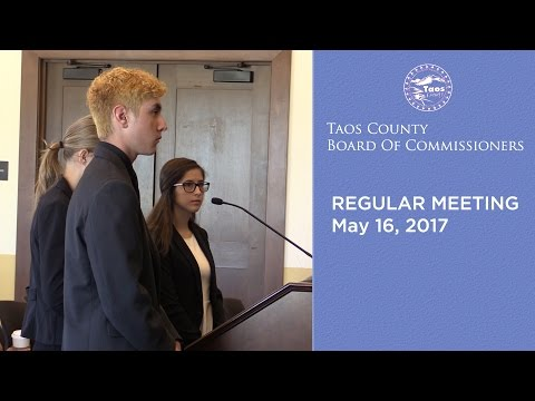 Taos County Board Of Commissioners, Regular Meeting - May 16, 2017
