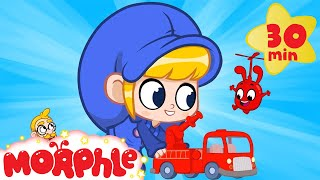 Giant MILA and Little Morphle | Fire Trucks & Cars | Cartoons for Kids | Morphle TV