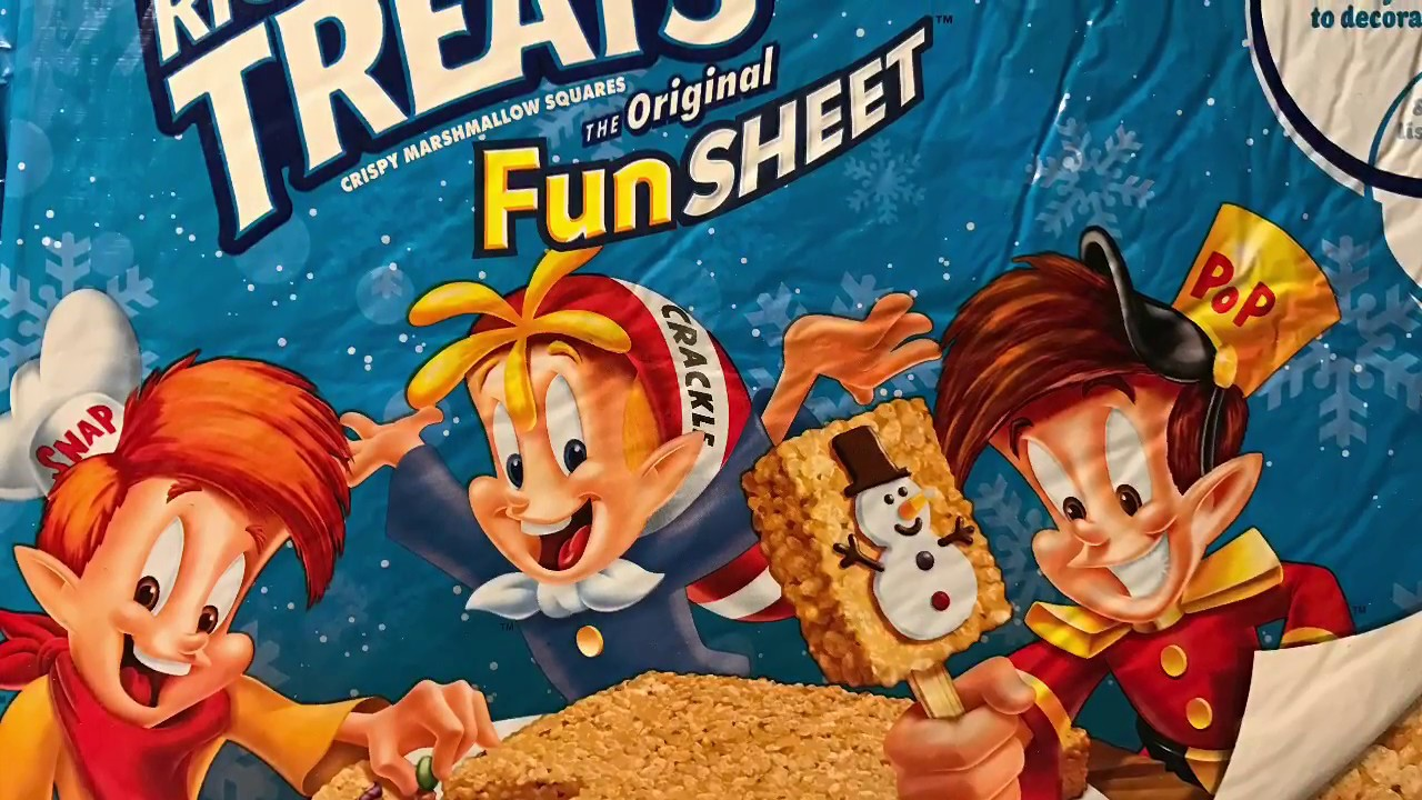 Rice Krispies treats fun sheet - YouTube