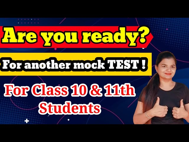 Mock Test Paper   Class 10th/11th Maths   Boost your preparation   Test paper by MathsTeacher
