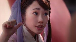 川栄李奈、織姫役でau三太郎新CMに出演 桃の中から「おりゃー!」と登場