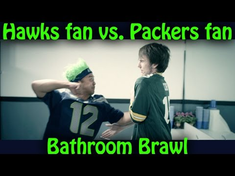 MUST SEE: Seahawks fan beats up Packers fan in fist fight (Rivals-Episode 1 HD)