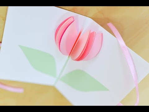 How to Make - Easy Greeting Card Mothers Day Birthday - Step by Step | Kartka Na Dzień Matki