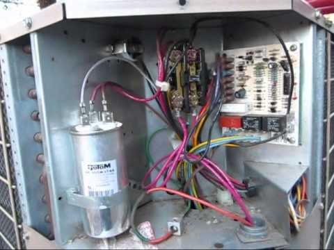 American Standard Heat Pump Thermostat Wiring Diagram Bad Dual Run Capacitor On A Coleman Evcon Heat Pump Youtube