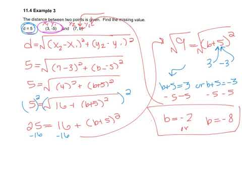 11.5 - Distance Formula and Midpoint Formula