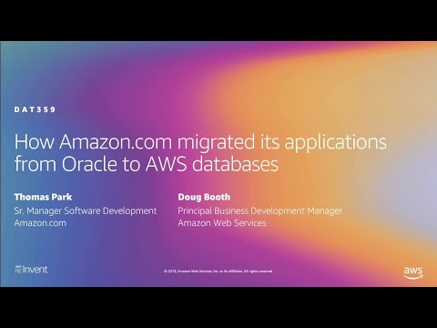 AWS re:Invent 2019: How Amazon.com migrated its applications from Oracle to AWS databases (DAT359)