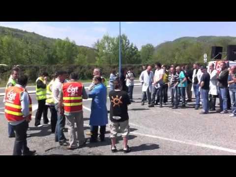 NAO Débrayage Continental Foix le 20 Avril 2011
