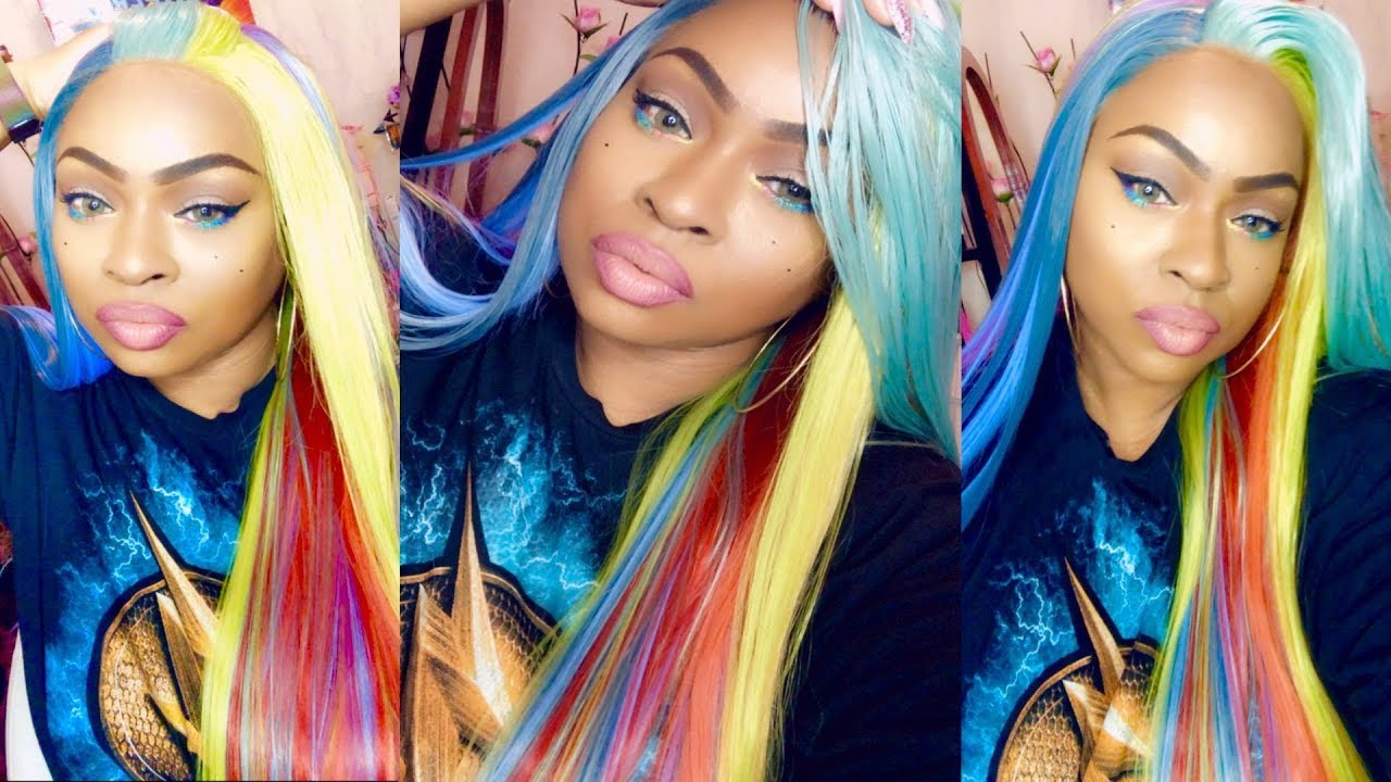 rainbow lace frontal