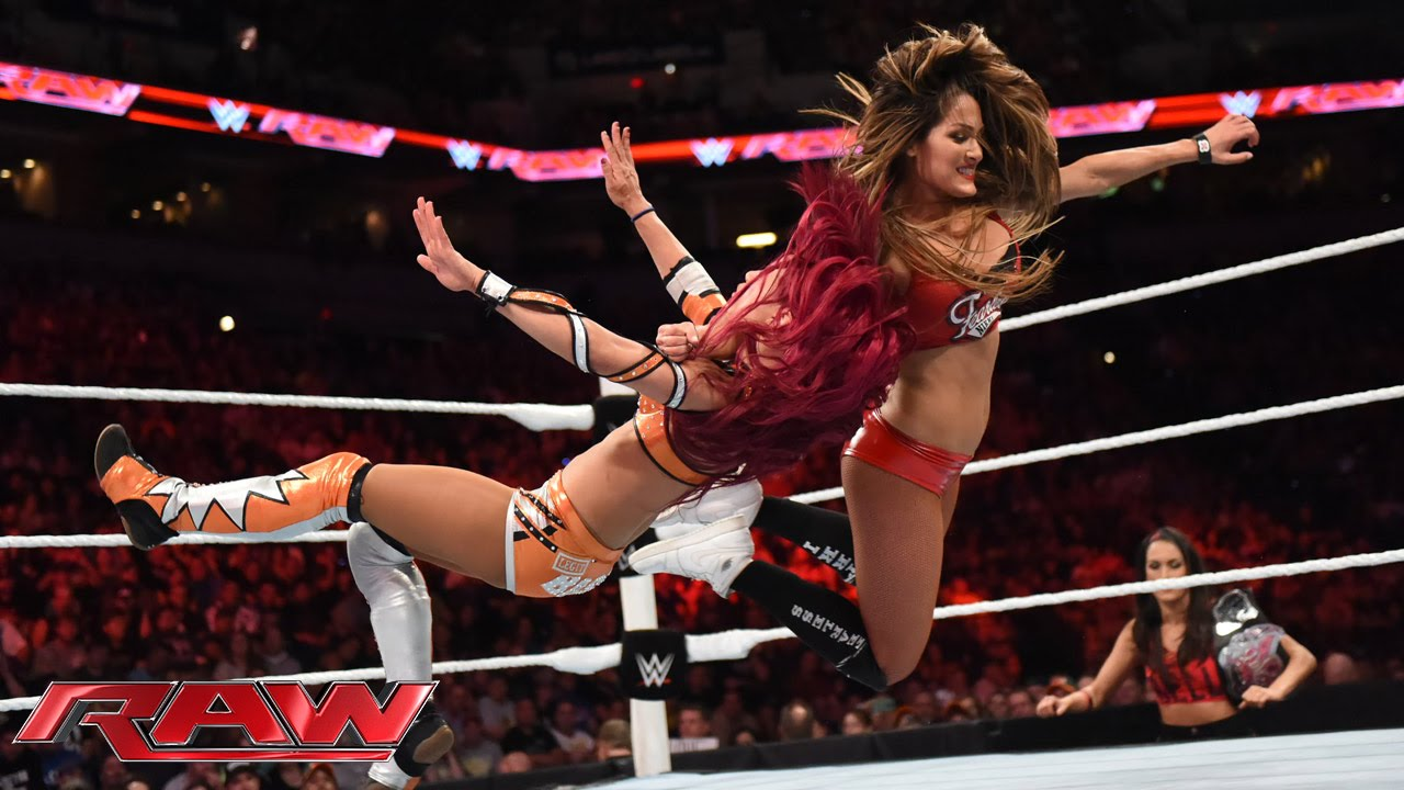 Boxing Ring Wallpaper Hd Nikki Bella Vs Sasha Banks Raw Aug 17 2015 Youtube