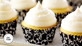 Fluffy Vanilla Cupcakes  Oh Yum with Anna Olson