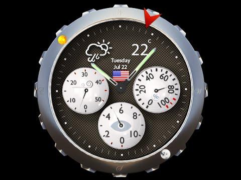 weather analog clock widget youtube. Black Bedroom Furniture Sets. Home Design Ideas