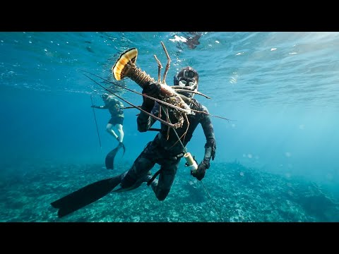 Spearfishing Giant Lobster In The Bahamas! (Catch And Cook)