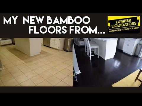 My New Dark Bamboo Floors from Lumber Liquidators