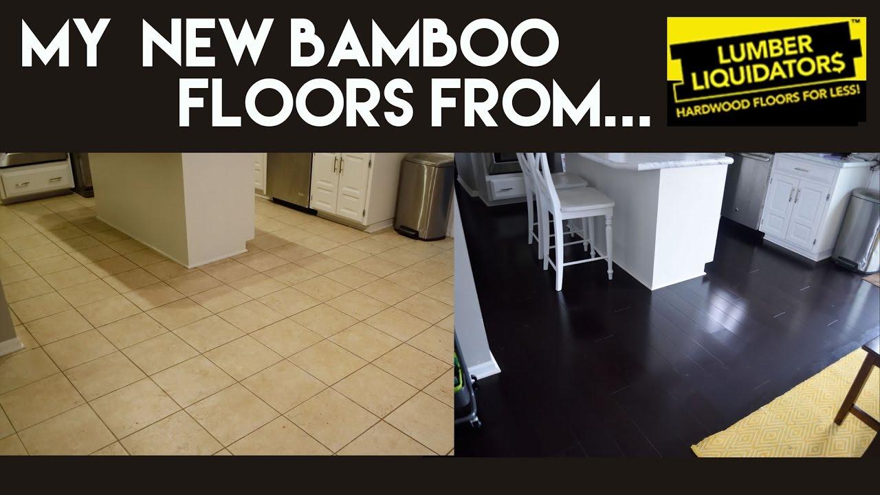 My New Dark Bamboo Floors From Lumber Liquidators YouTube - Show me bamboo flooring