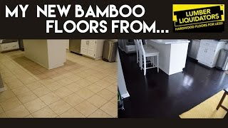 My New Dark Bamboo Floors from Lumber Liquidators