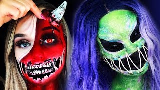 TOP 15 DIY Halloween Makeup IDEAS + 2 Cool DIY Costumes 2018