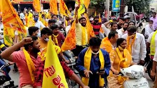 GHMC elections: TDP leader Chittineni Vijaya campaigns in Hyderabad's SR Nagar