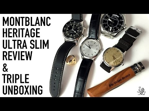MontBlanc Chronometre Ultra Slim Watch Review & Unboxing A Longines Legend Diver, Omega & More