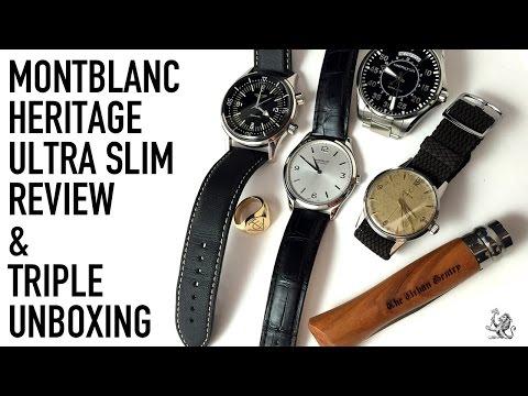 MontBlanc Chronometre Ultra Slim Watch Review & Unboxing A Longines Legend Diver, Omega & More