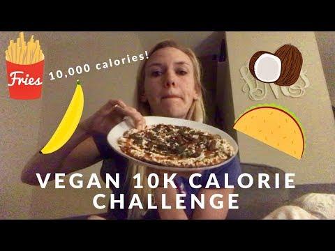 10,000 Calorie Challenge! (VEGAN)