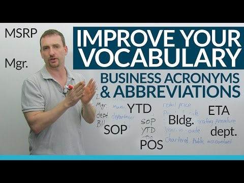 Learn 17 Business Abbreviations & Acronyms in English