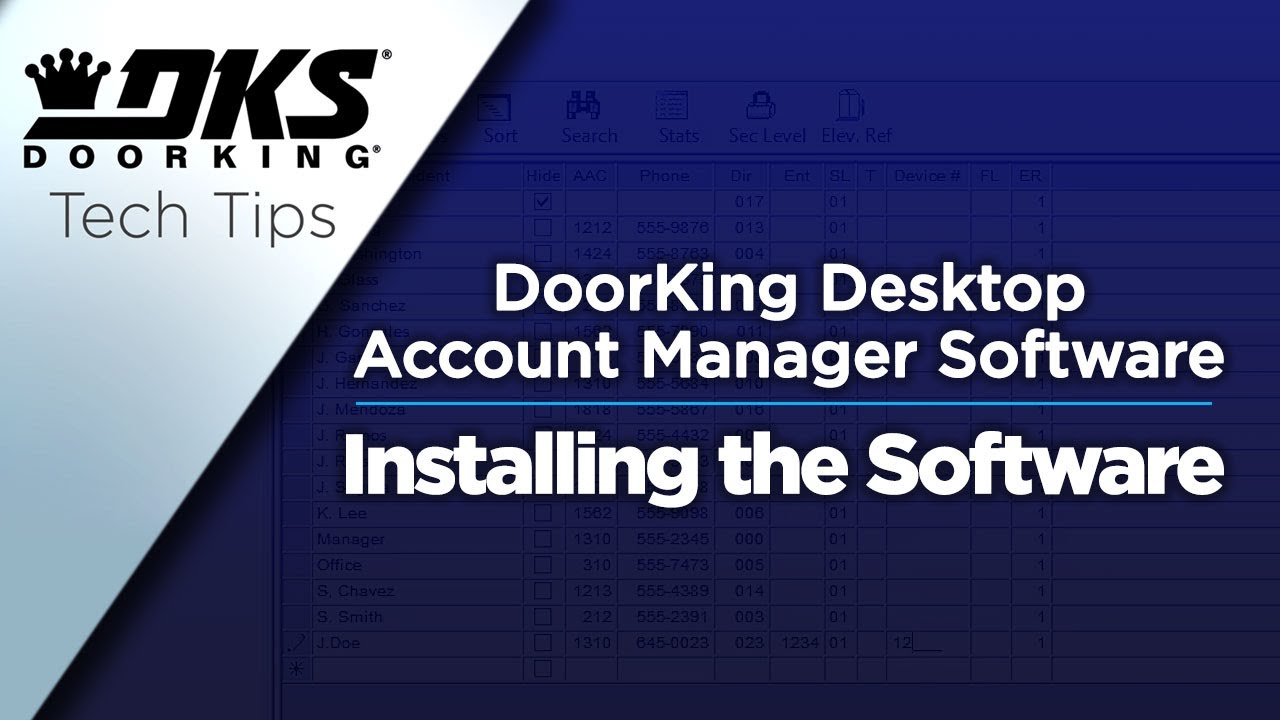 DKS Software - Remote Account Manager | Doorking - Access