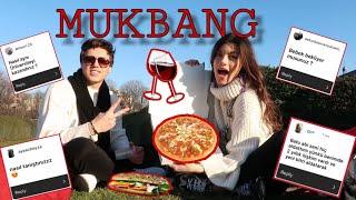 SORU CEVAP MUKBANG (Nasıl Tanıştık? Ne zaman evleniyoruz? Aldatıldım mı?) Paris'te Pizza Piknik