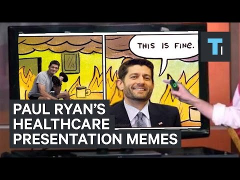 Paul Ryan's healthcare presentation turns into hilarious memes
