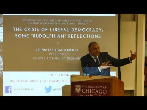 [Video] Lecture on Crisis of Liberal Democracy: Some 'Rudolphian' Reflections by Pratap Bhanu Mehta