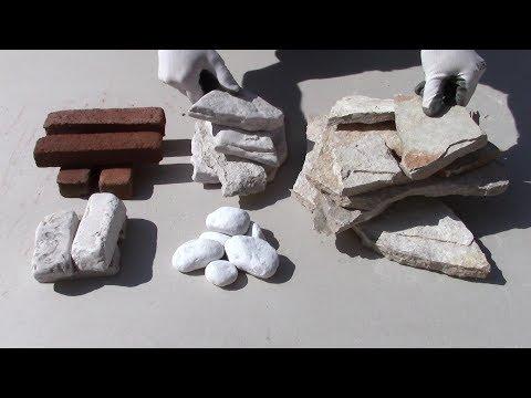 Come rivestire un muro con 5 tipi di PIETRE(1°Parte) -How to cover a wall with STONES (Parte one)