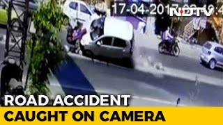 CCTV Shows Pune Car Accident, People Flung In Air, 3-Year-Old Dead