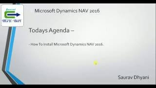 How To Install Microsoft Dynamics NAV 2016