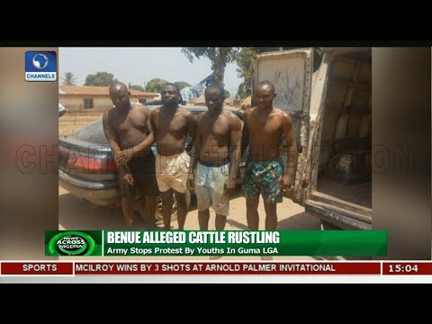 Army Stops Alleged Cattle Rustling Protest In Guma, Benue |News Across Nigeria|