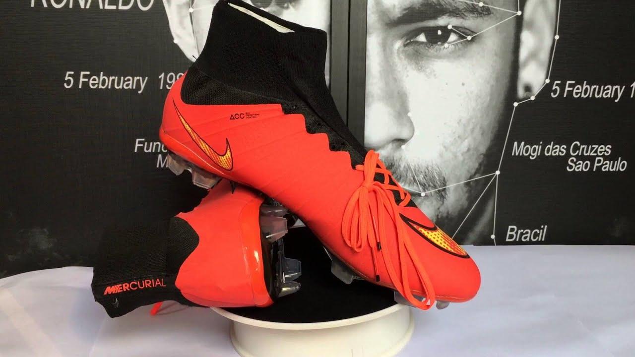 6d33afd088cda Chaussure De Foot Nike Mercurial Superfly FG Rouge Noir Jaune Pas Cher
